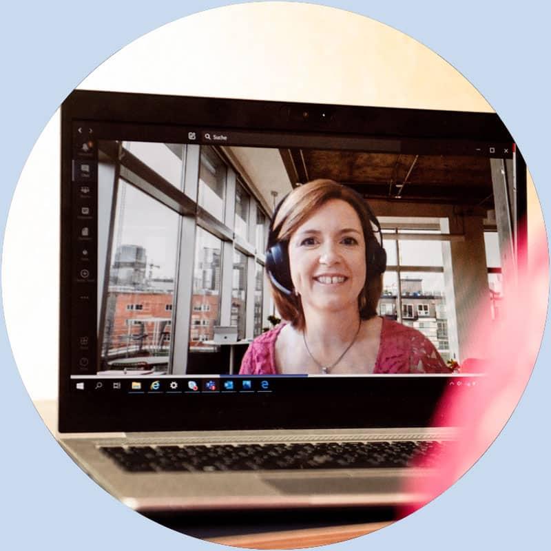 Coaching und Training geht bei Sabine Valentin auch Online