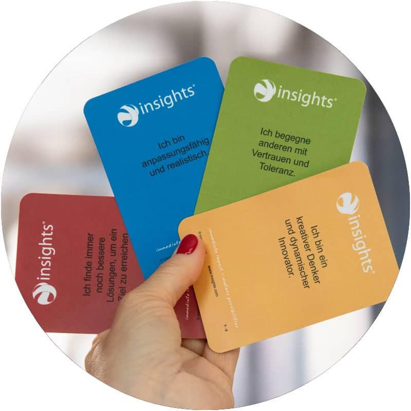 Insights-Karten helfen beim Coaching und Training sich besser kennenzulernen